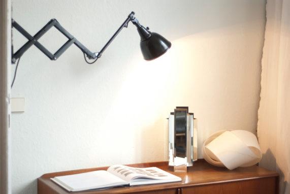 Midgard drgm drp old scissor lamp with aluminium shade u2014 fiat lux berlin