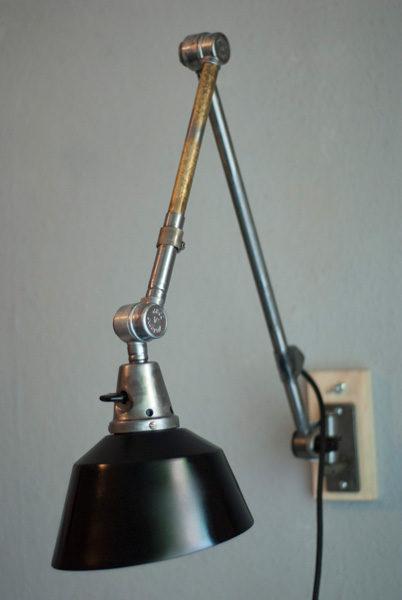 Lampen 188 Gelenklampe Midgard Ddrp Stahloptik Mit Schwarzem Schirm 11_dev