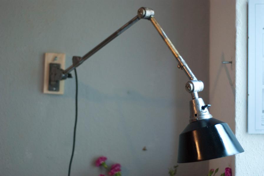 Lampen 188 Gelenklampe Midgard Ddrp Stahloptik Mit Schwarzem Schirm 14_dev