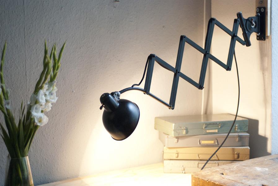 lampen 240 grosse scherenleuchte kaiser idell 6614 08 dev fiat lux. Black Bedroom Furniture Sets. Home Design Ideas