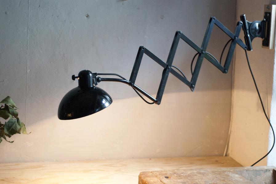 grosse schwarze scherenleuchte kaiser idell 6614 super fiat lux. Black Bedroom Furniture Sets. Home Design Ideas