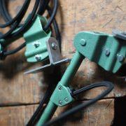 lampen-553-554-paar-gelenkleuchte-wandlampen-midgard-ddrp-originalzustand-hammerschlag-grün-pair-wall-hinged-lamps-hammertone-003