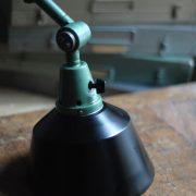 lampen-553-554-paar-gelenkleuchte-wandlampen-midgard-ddrp-originalzustand-hammerschlag-grün-pair-wall-hinged-lamps-hammertone-010