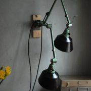 lampen-553-554-paar-gelenkleuchte-wandlampen-midgard-ddrp-originalzustand-hammerschlag-grün-pair-wall-hinged-lamps-hammertone-020
