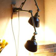 lampen-553-554-paar-gelenkleuchte-wandlampen-midgard-ddrp-originalzustand-hammerschlag-grün-pair-wall-hinged-lamps-hammertone-021