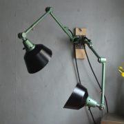 lampen-553-554-paar-gelenkleuchte-wandlampen-midgard-ddrp-originalzustand-hammerschlag-grün-pair-wall-hinged-lamps-hammertone-032
