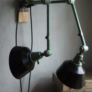lampen-553-554-paar-gelenkleuchte-wandlampen-midgard-ddrp-originalzustand-hammerschlag-grün-pair-wall-hinged-lamps-hammertone-039