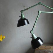 lampen-553-554-paar-gelenkleuchte-wandlampen-midgard-ddrp-originalzustand-hammerschlag-grün-pair-wall-hinged-lamps-hammertone-040