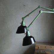 lampen-553-554-paar-gelenkleuchte-wandlampen-midgard-ddrp-originalzustand-hammerschlag-grün-pair-wall-hinged-lamps-hammertone-041